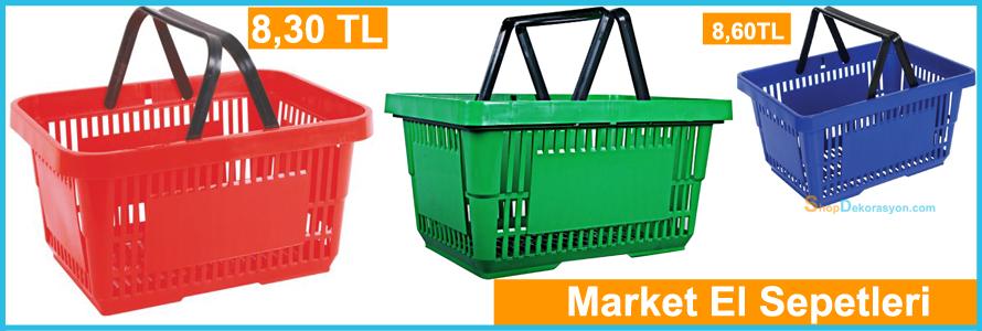 plastik market el sepetleri